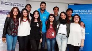 Jóvenes bogotanos que participan en el One Young World - Foto: Secretaría Integración Social