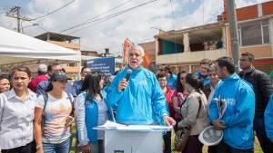 Alcalde Peñalosa invita a los bogotanos a celebrar en paz la final de fútbol colombiano. Foto: Alcaldía Mayor