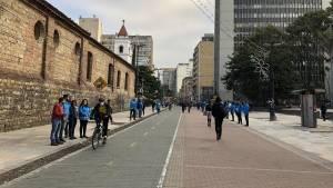 Segunda fase de peatonalización de la Carrera 7 - Foto: Comunicaciones Alcaldía Bogotá