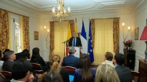 Presentación voluntariado de Francia y Bogotá - Foto: Comunicaciones Alcaldía Bogotá / Diego Bauman