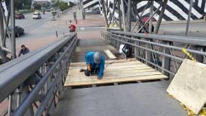 Puentes peatonales en Bogotá - Foto: Comunicaciones IDU