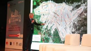 El alcalde Enrique Peñalosa presenta la red de transporte público integrado en Bogotá / Foto: Diego Bauman