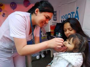 Atención especial con los menores de un año. Foto: Secretaría de Salud