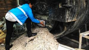 Sellamiento de una fábrica en Puente Aranda por contaminar el aire - Foto: Secretaría de Ambiente