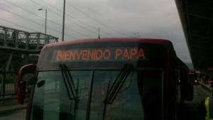 TransMilenio: así funcionará durante la visita del papa Francisco. Foto: Prensa TransMilenio