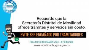Trámites relacionados con movilidad no tienen costos - Fotos: Secretaría de Movilidad
