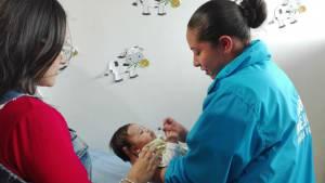 Vacunación en niños - Foto: Secretaría de Salud