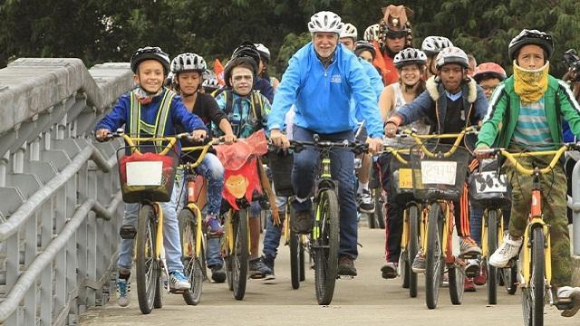 Reccorrido en bicicleta - Foto: Prensa Alcaldía Mayor / Diego Bauman