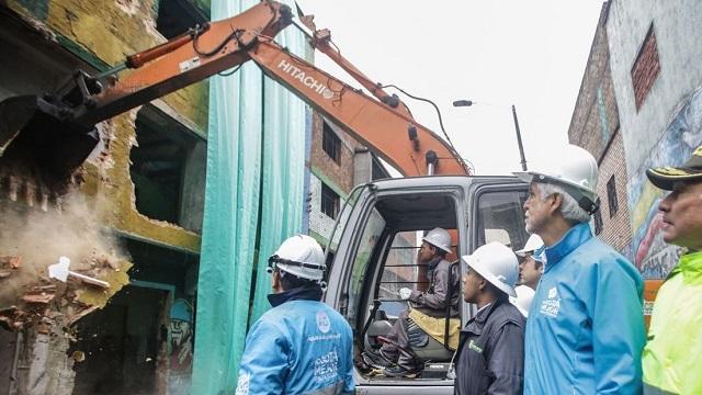 Demolición de predios en el Bronx - Foto: Prensa Alcaldía Mayor / Camilo Monsalve