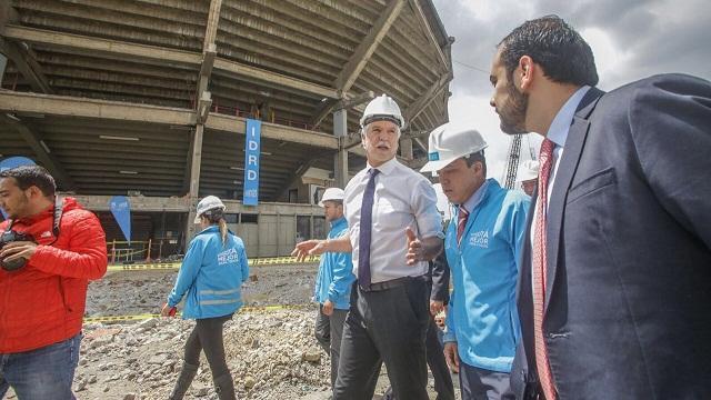 Recorrido por obras del Coliseo El Campín - Foto: Comunicaciones Alcaldía / Camilo Monsalve
