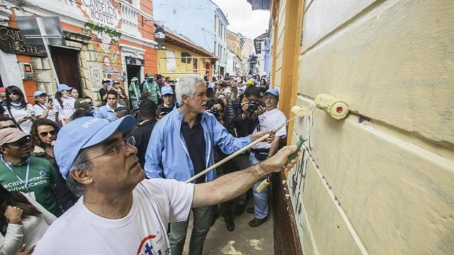Recuperación del Eje Ambiental - Foto: Prensa Alcaldía Mayor de Bogotá / Camilo Monsalve