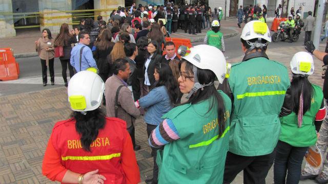 Simulacro de Evacuación - Foto: bogota.gov.co
