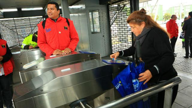 Torniquete Transmilenio - Foto: Prensa Alcaldía Mayor