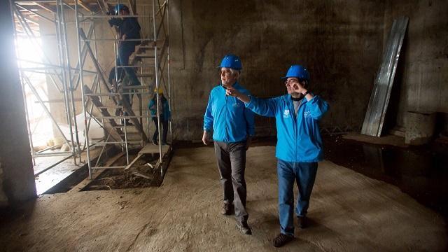 Verificación obras Plaza La Concordia - Foto: Comuniaciones Alcaldía Bogotá