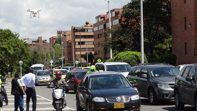 Atención de accidentes con drones - Foto: Prensa Secretaría de Movilidad