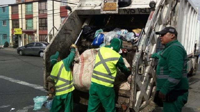 Recolección de basuras - FOTO: Consejería de Comunicaciones Alcaldía Mayor de Bogotá