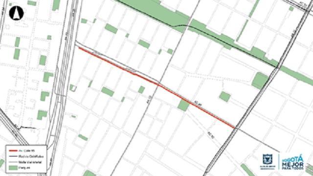CicloRuta de Calle 85 entre AutoNorte y Carrera 11 estará lista en noviembre