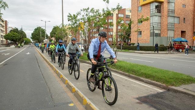 CicloRuta de la Calle 116 - Foto: Comunicaciones Alcaldía Bogotá / Andrés Sandoval