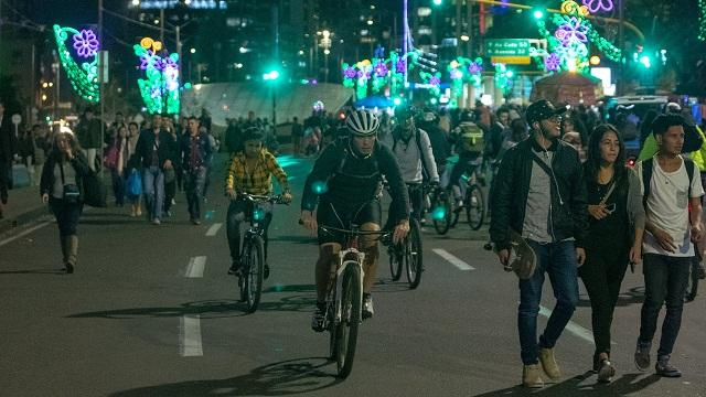 Así se vivió la Ciclovía Nocturna en Bogotá - Foto: Comunicaciones Alcaldía / Andrés Sandoval