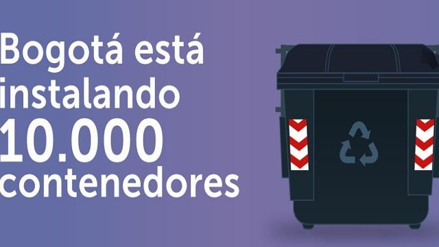 Bogotá está instalando 10.000 contenedores