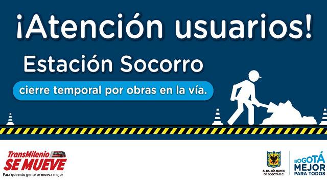 Usuarios de la estación Socorro pueden apoyarse en estaciones vecinas este mes - Foto: TransMilenio