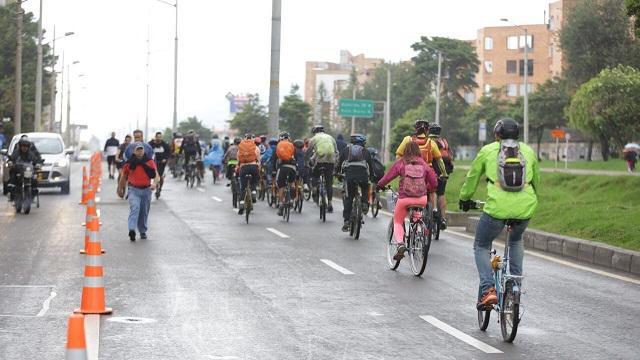 Extensión Ciclovía en el norte de Bogotá - Foto: Comunicaciones Alcaldía Bogotá / Andrés Pedraza
