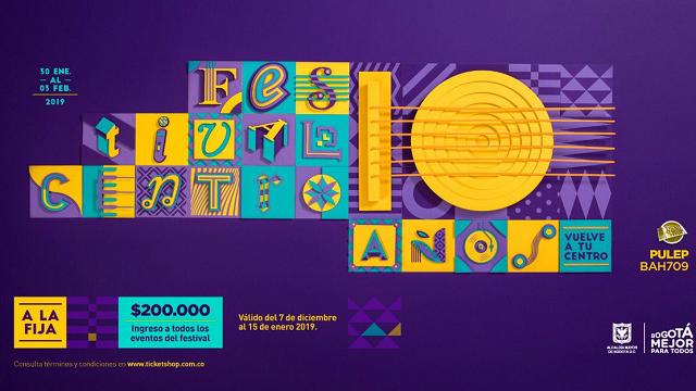LLega la décima versión del Festival Centro de Bogotá