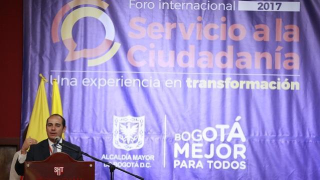 Foro Internacional Servicio al Ciudadano - Foto: Comunicaciones Alcaldía / Diego Bauman