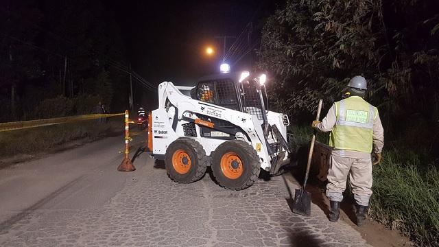 Mantenimiento de vías en Bogotá - Foto: Prensa UMV