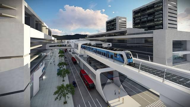 Presentación diseños del Metro - FOTO: Render Empresa Metro