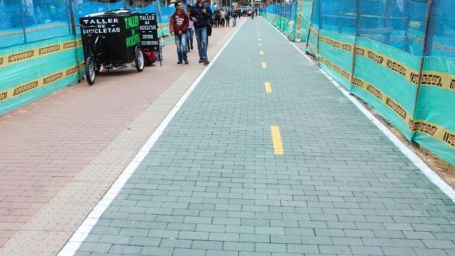 Obras de peatonalización de la Carrera Séptima - Foto: Prensa IDU