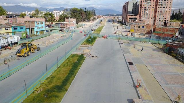 La Avenida Bosa está a punto de ser entregada. FOTO: IDU