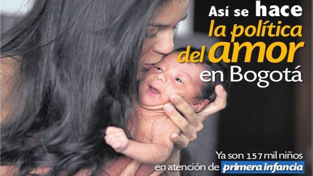 Bogotá es líder en atención a la primera infancia en Colombia y América Latina