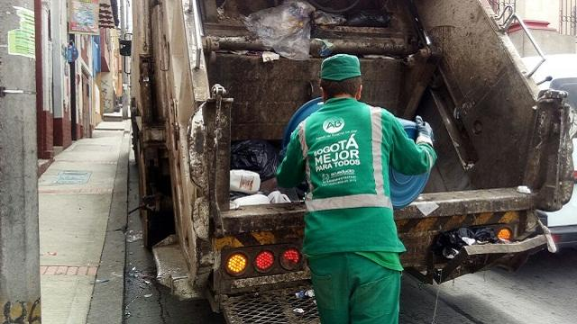 Recolección de residuos en Bogotá - Foto: Comunicaciones Alcaldía Bogotá