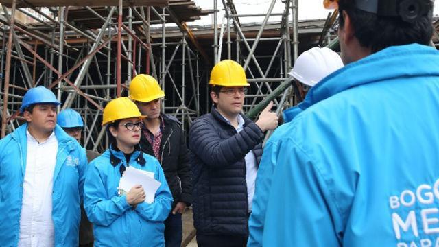 Recorrido de obras por La Candelaria - Foto: Secretaría de Gobierno