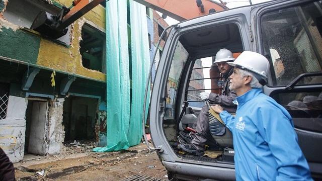 Demoliciones en sector del Bronx - Foto: Prensa Alcaldía Mayor de Bogotá