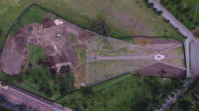 Así se prepara el parque Simón Bolívar para la misa del papa. Foto: Prensa IDRD