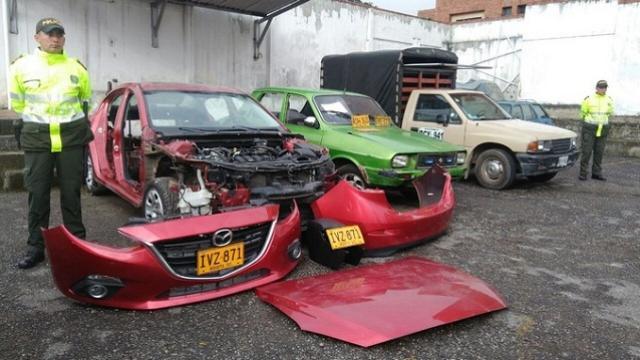 Vehículos hurtados - FOTO: Prensa MEBOG