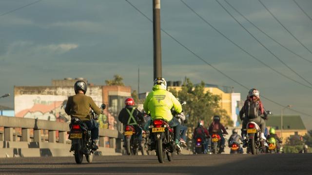 Motociclistas. Foto: Alcaldía Mayor