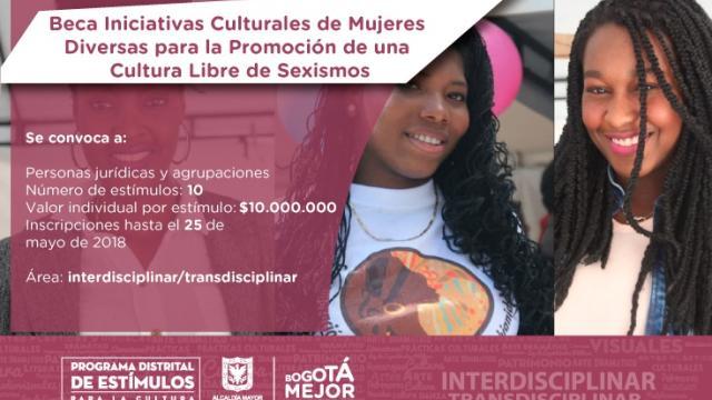 Beca Iniciativas Culturales de Mujeres Diversas para la Promoción de una Cultura Libre de Sexismo