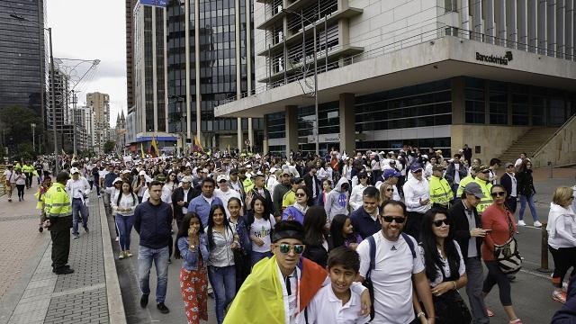 Marcha contra el terrorismo en Bogotá - Foto: Comunicaciones Alcaldía Bogotá