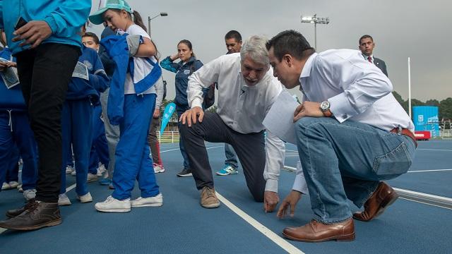 Pista de atletismo de la Unidad Deportiva El Salitre