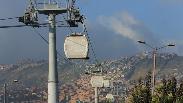 Pruebas de vuelo de cabinas de TransMiCable - Foto: Comunicaciones Alcaldía Peñalosa / Diego Bauman