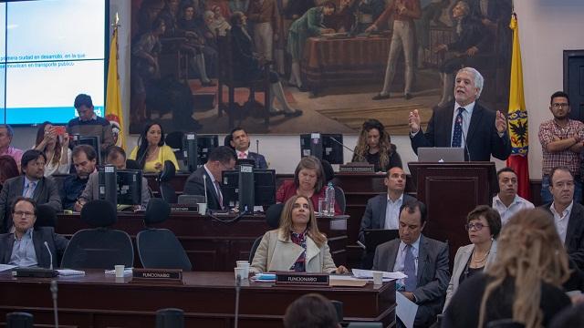 Alcalde rindió cuentas en el Concejo de Bogotá - Foto: Comunicaciones Alcaldía / Andrés Sandoval