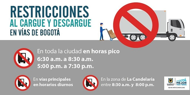 Restricciones transporte de carga - Foto: Prensa Secretaría de Movilidad